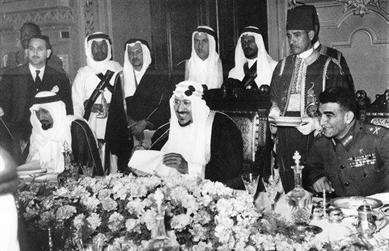 رئيس مصر وملك السعودية