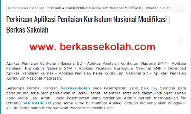 Perkiraan Aplikasi Penilaian Kurikulum Nasional Modifikasi - Berkas Sekolah