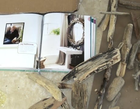 driftwood mirror in Domino book