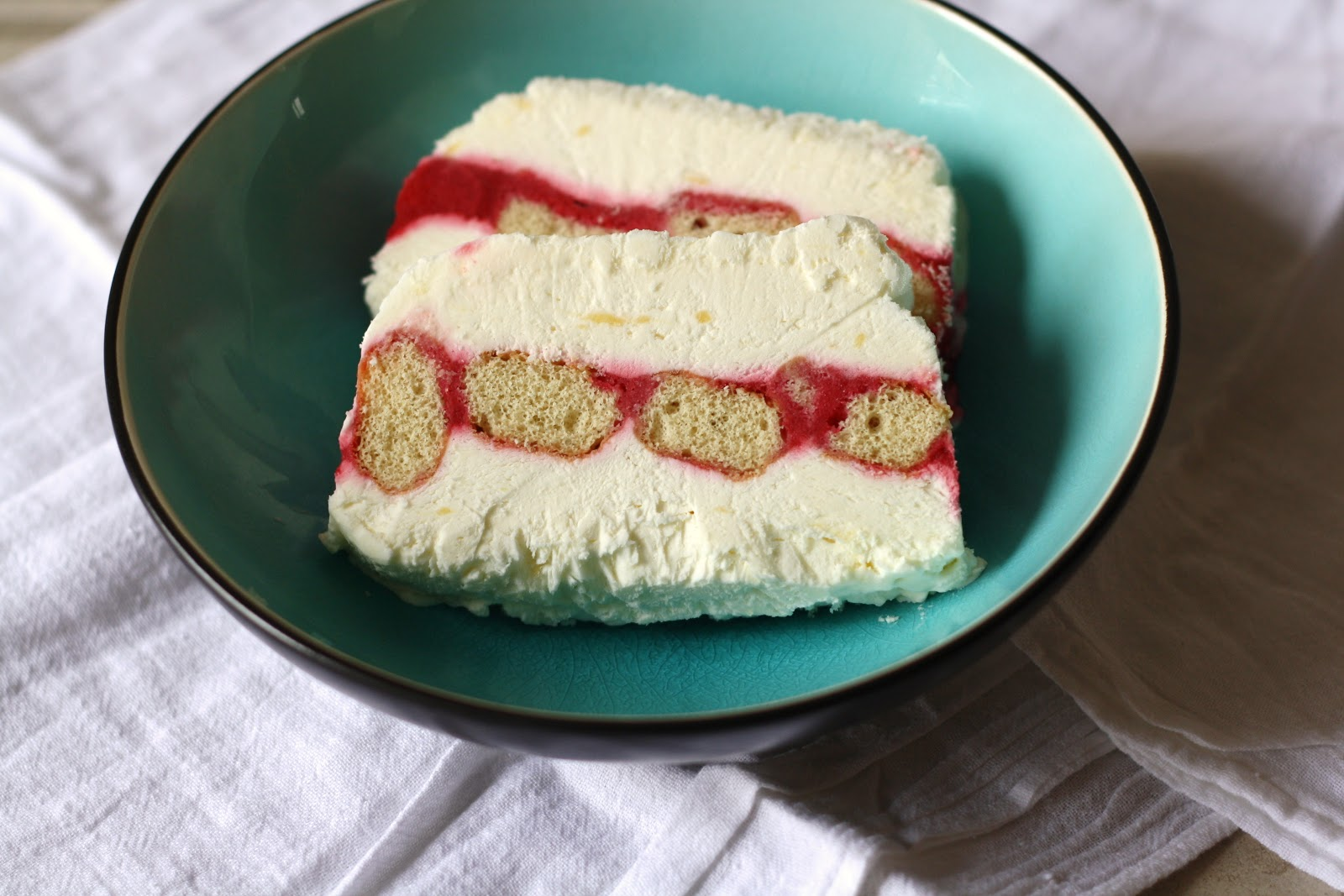 sunday sweets: lemon-raspberry semifreddo
