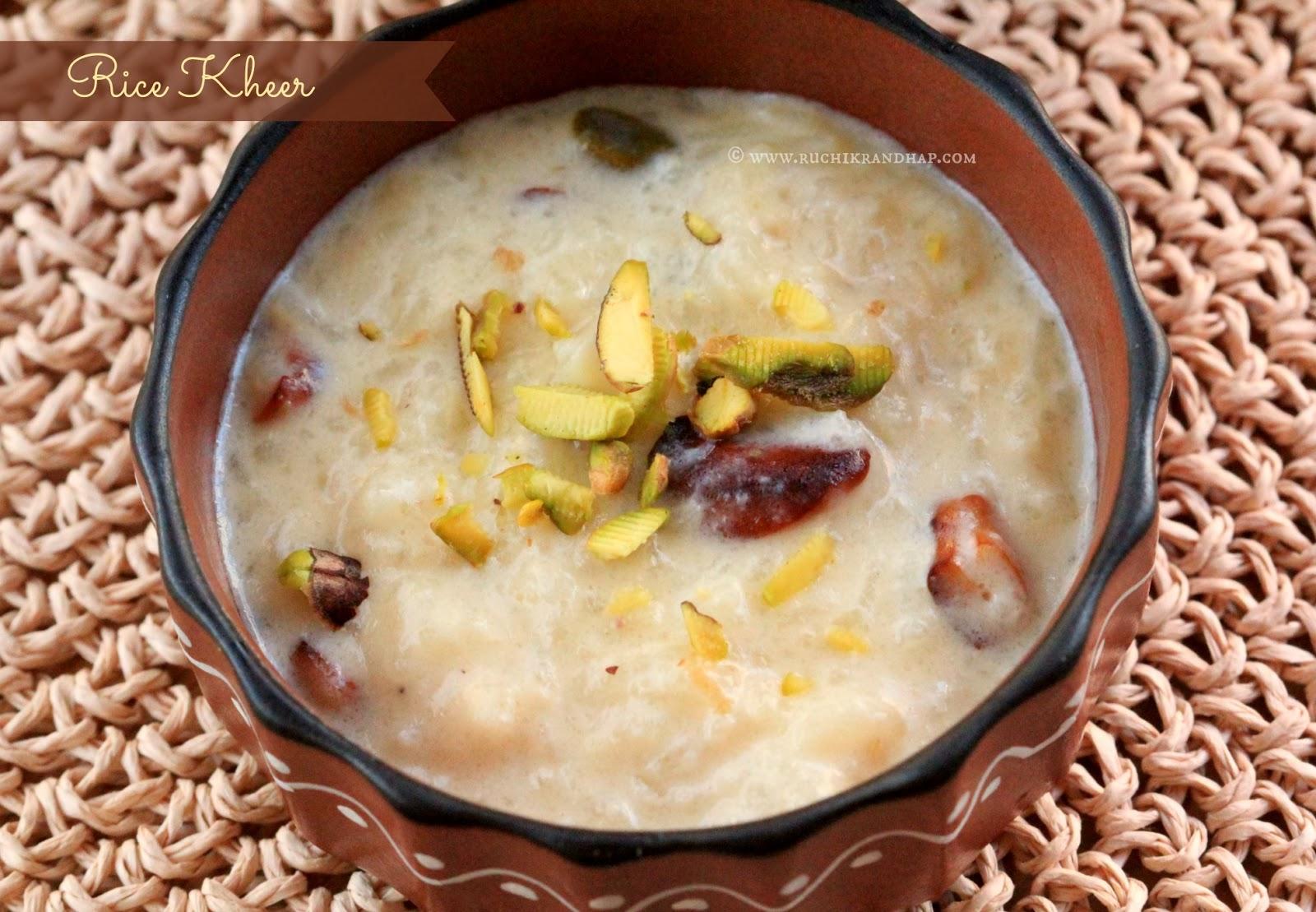 Rice kheer rice pudding ruchik randhap rice kheer rice pudding ccuart Gallery