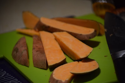 Chopping Sweet Potato
