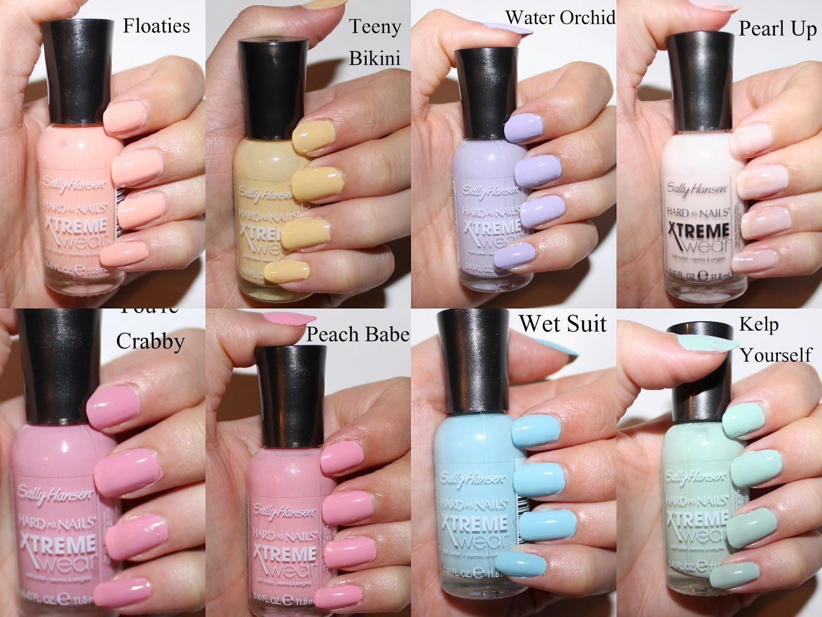 Sally Hansen Xtreme Wear Sea Bloom Collection Swatches