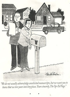 Rejection letter query letter unsolicited manuscript cartoon funny sad real
