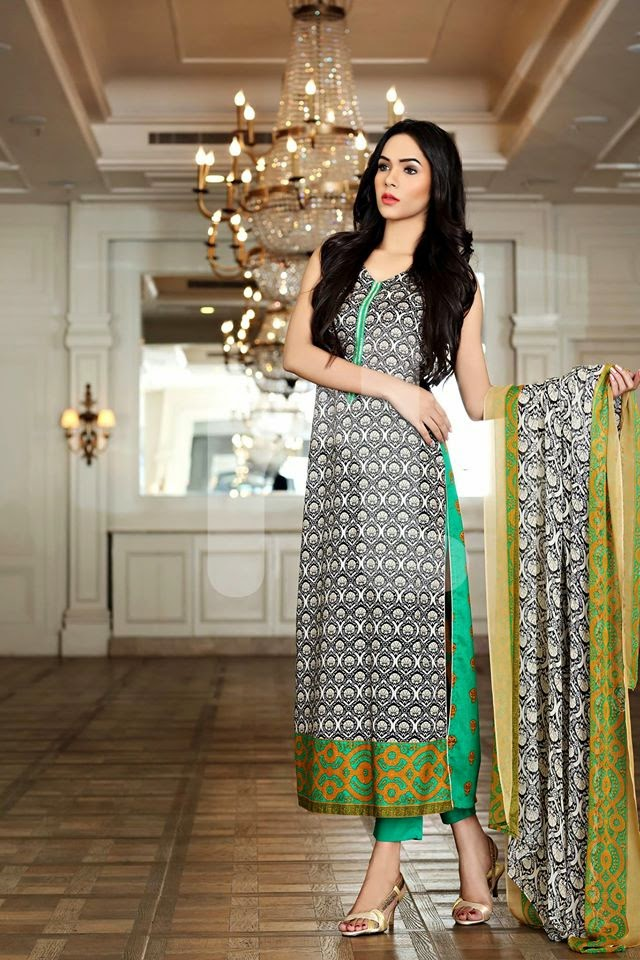 Buy Ready Made Cotton Embroidered Neck Suit