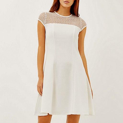 river island white dress