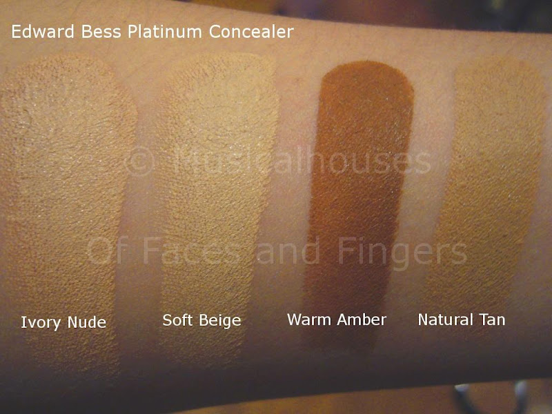 Edward Bess Platinum Concealer Swatches