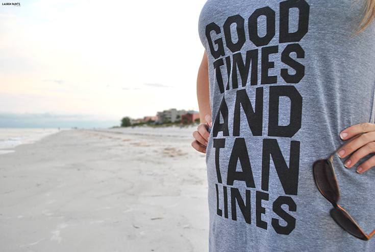 Good Times and Tan Lines - Beach #OOTD + A Thug LIfe T-shirts Coupon