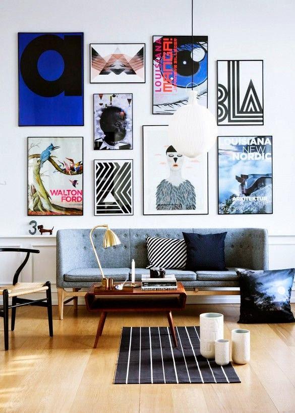 en una entrada anterior ya hablbamos de cuadros encima del sof aunque pueden colocarse en otras partes de las paredes de la sala un cuadro dos tresu