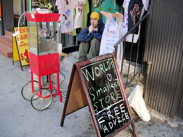 You can't turn down something for free and a trip to the World's Smallest Store will offer up some free advice.