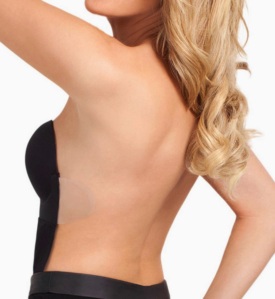 backless bra with body suite model