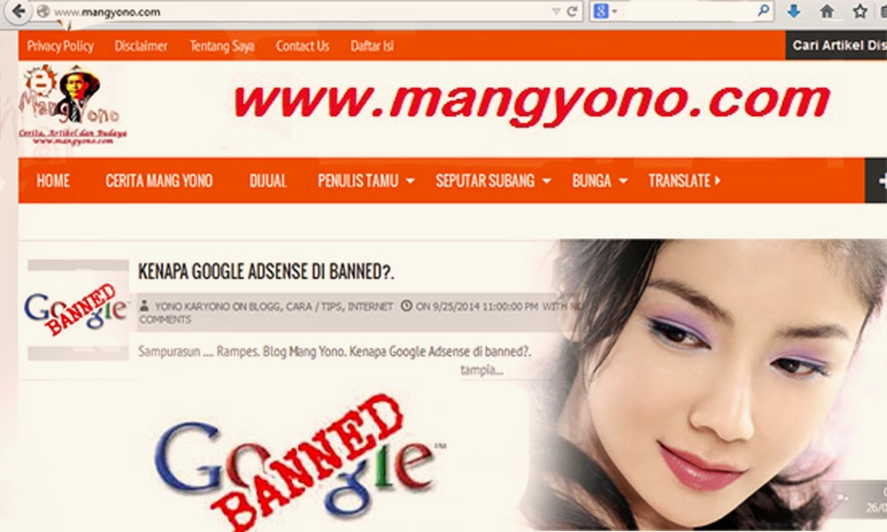 Kenapa Google Adsense di banned?.