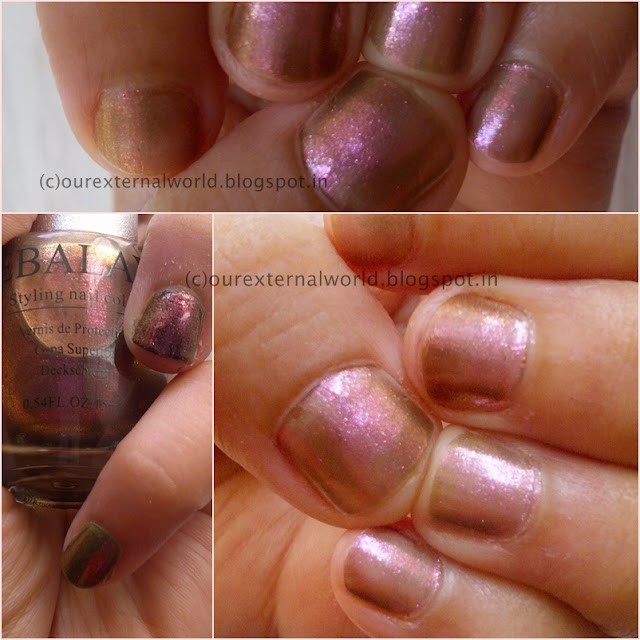EBALAY Golden Pink Iridescent Shinny Styling Nail Polish - 005