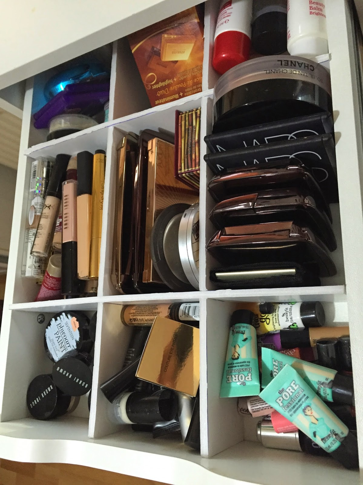 Makeup storage inspiration 1 drawer dividers feat ikea Makeup drawer organizer ikea