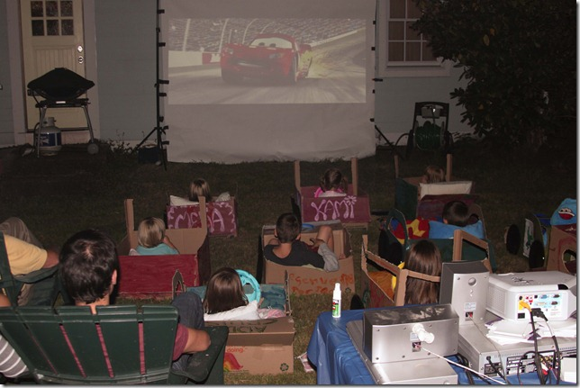 disney cars drive-in movie party