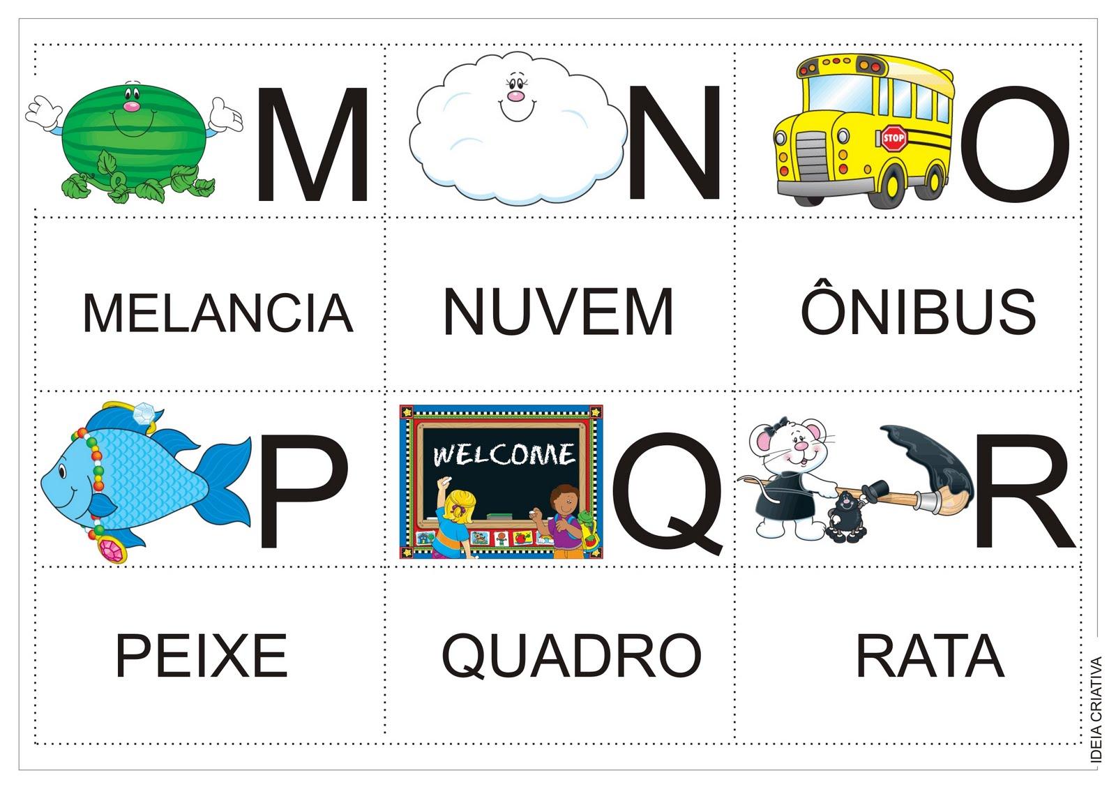 Well-known Alfabeto Jogo da Memória Colorido Para recorte após impressão  KF99