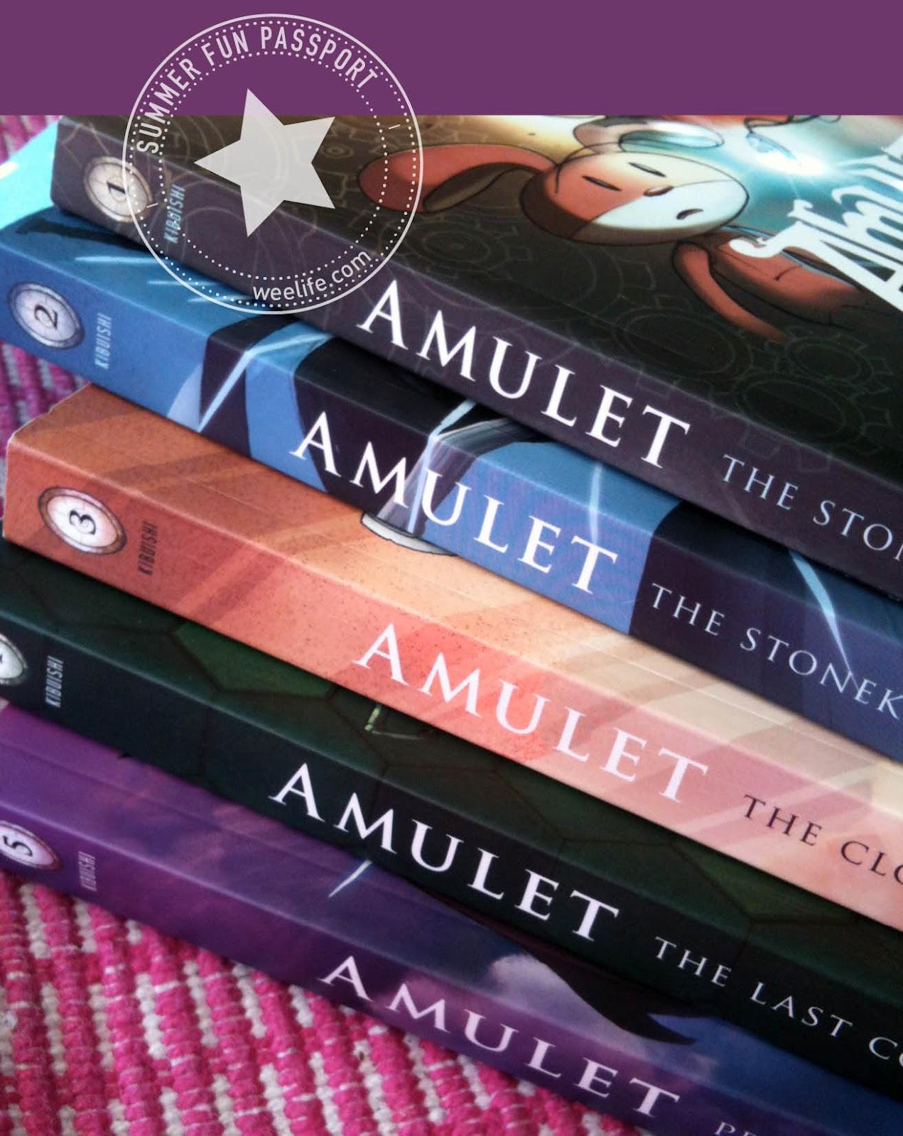LOT 5 Amulet Series Books #1 2 3 4 5 Kazu Kibuishi Graphic Novels