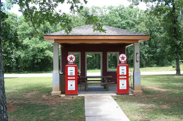 There were about 13 theme picnic pavilions in the rest stop. Kids ...