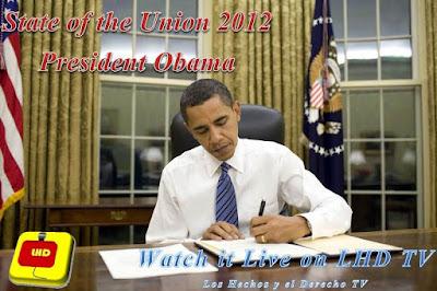 Watch Live Online State of the Union Address 2012 President Obama LHD TV