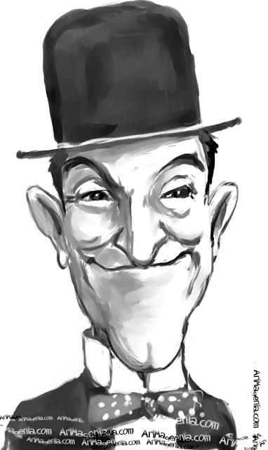 Stan Laurel is a caricature by Artmagenta