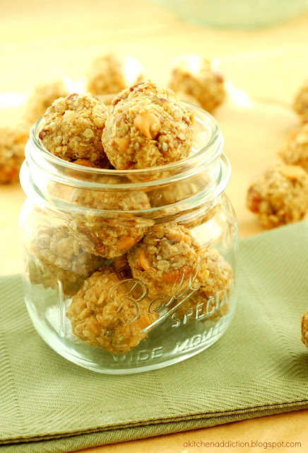 No Bake Butterscotch Pecan Granola Bites