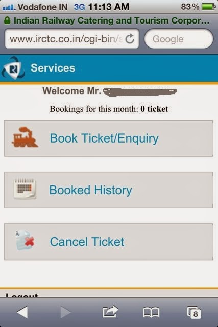 irctc android application