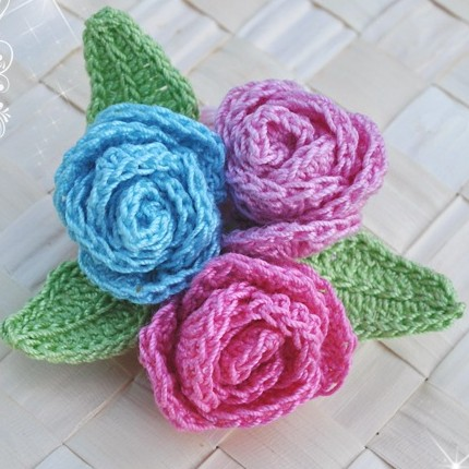 Crochet Brooch Free pattern for Kids & Adult