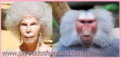 Duquesa de Alba y mono