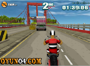 Şehirde Motor Yarışı 3d