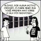 tirinha mostrando os servidores do blog do programador real confiram