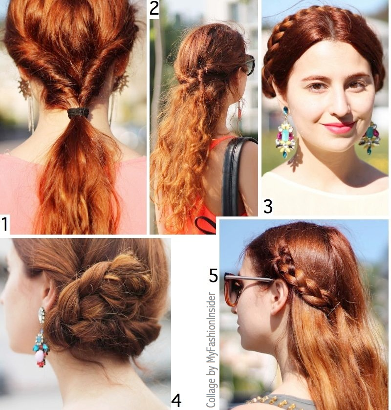 bun, braids, ponytails, hair ideas
