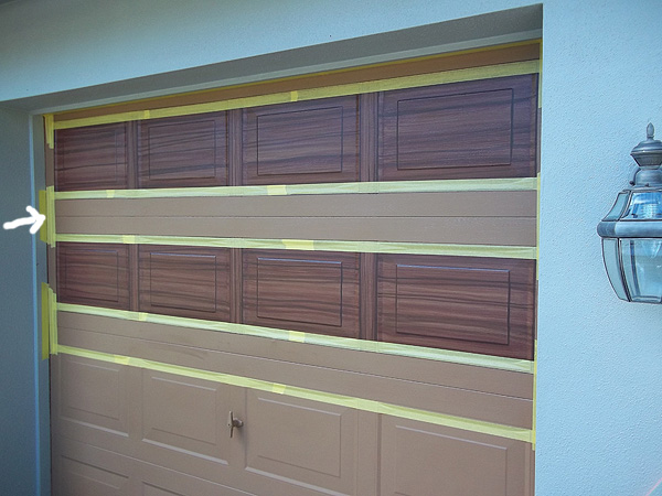 finished the single car garage door