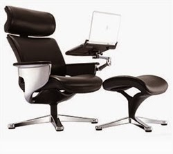 Modern Tablet Arm Reclining Office Chair