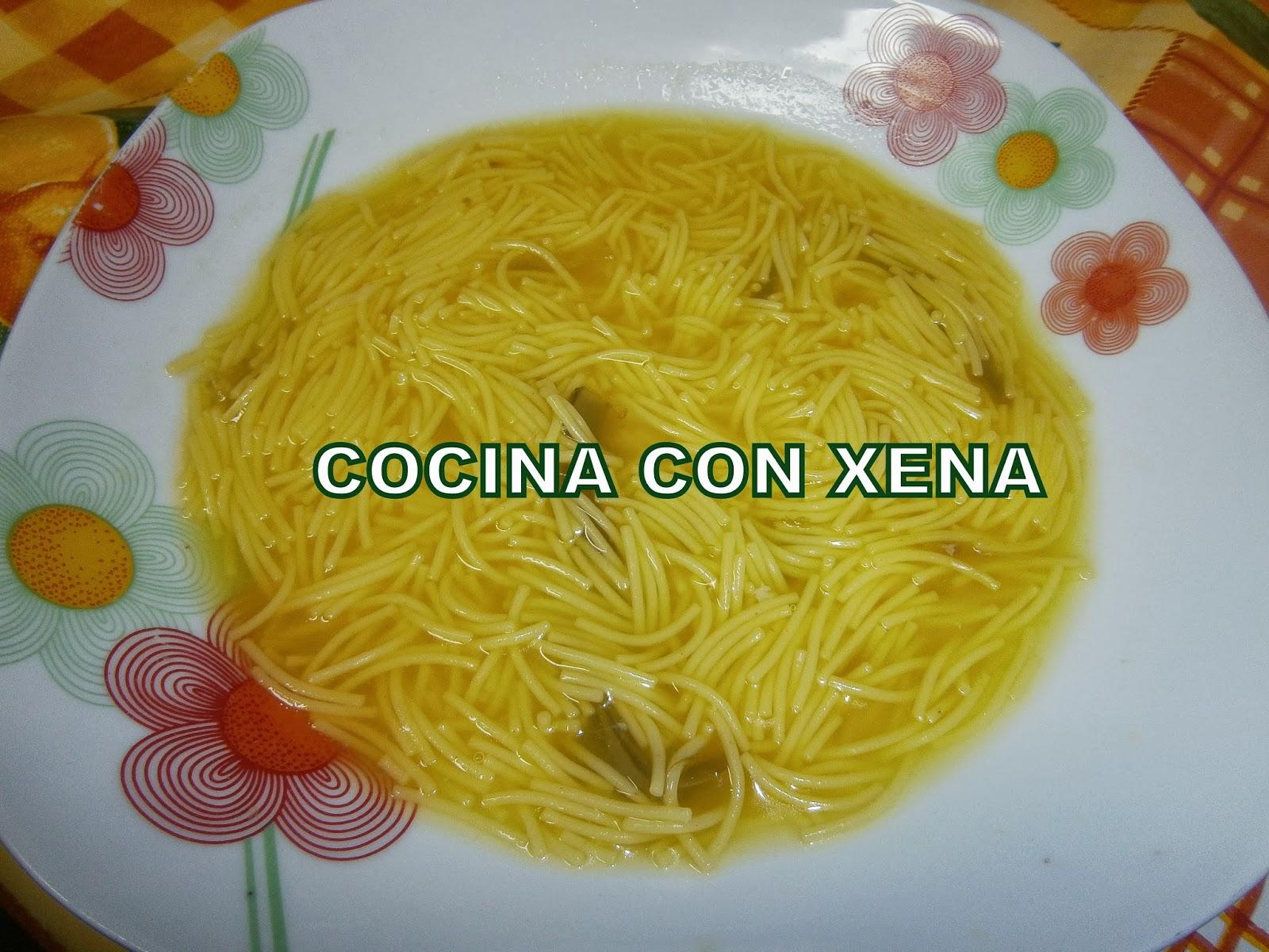 COCINA CON XENA: Caldo de pollo y verduras en GM E, F y D y sopa de ...