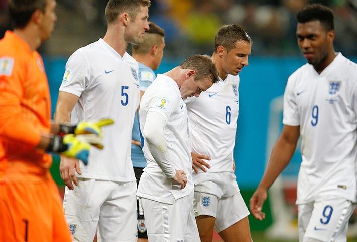 England lose to Uruguay