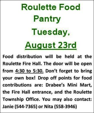 8-23 Roulette Food Pantry