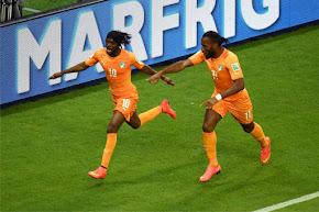 Costa do Marfim 2x1 Japão - 2014