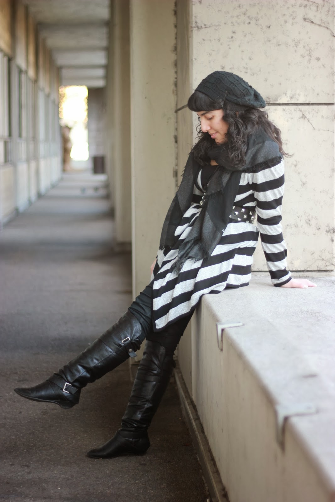 Layered Outfit with Boots