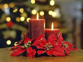 Centros de Mesa de Navidad con Velas, parte 1