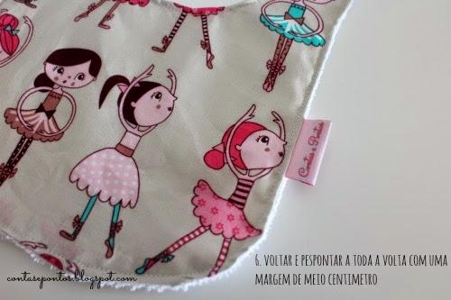 Babete em tecido - passo-a-passo