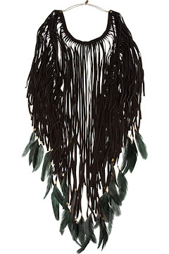 Isabel Marant Dakota feather necklace