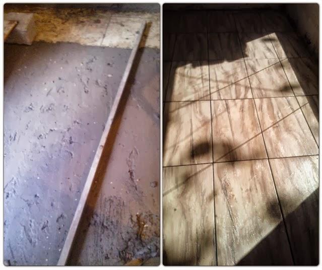 antes e depois - piso da sala de leitura Senac - Santos Arquidecor 2013