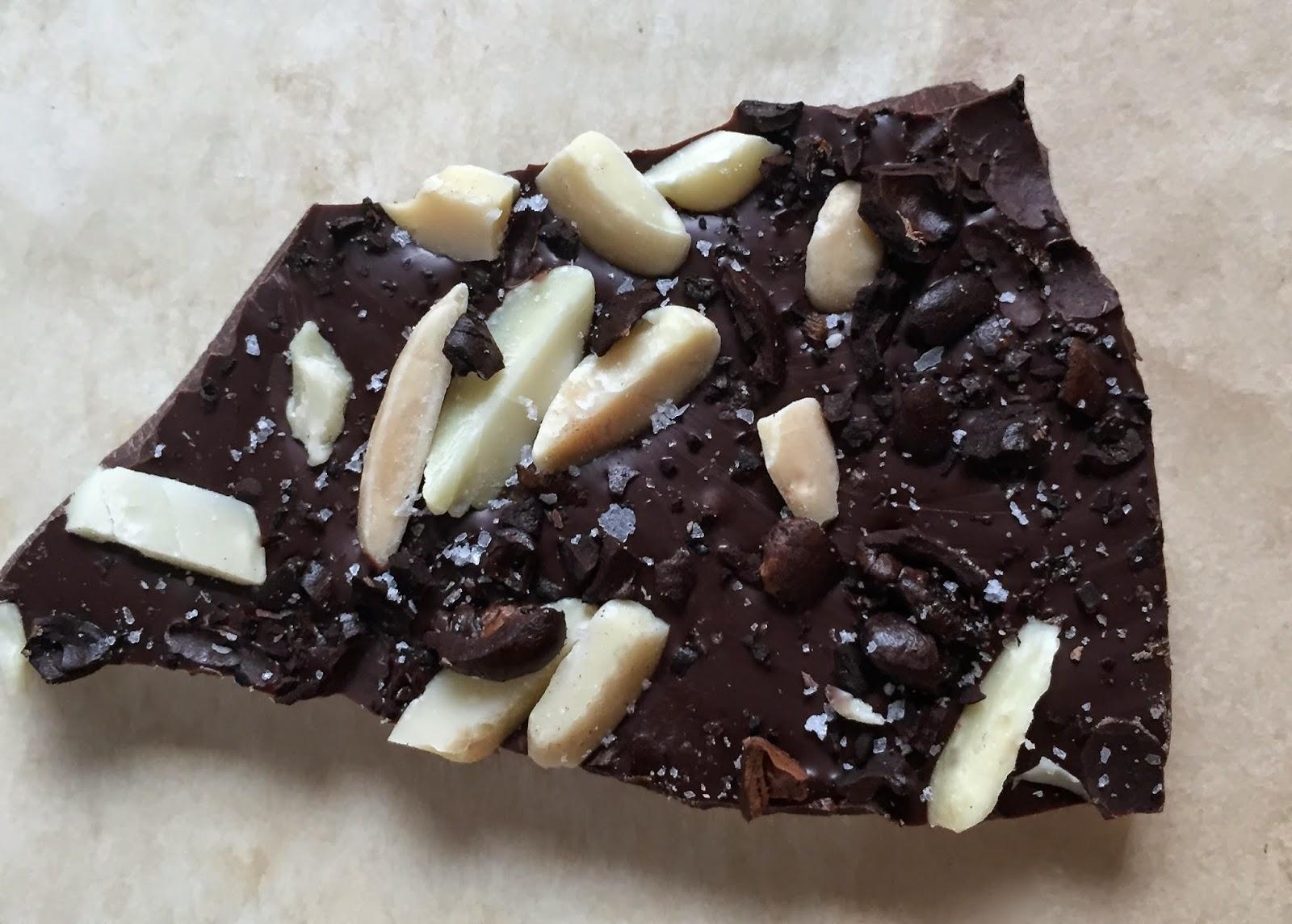 Heidi's Mix: Dark Chocolate Espresso Almond Sea Salt Bark