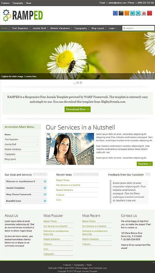 RAMPED - Free Joomla! Template