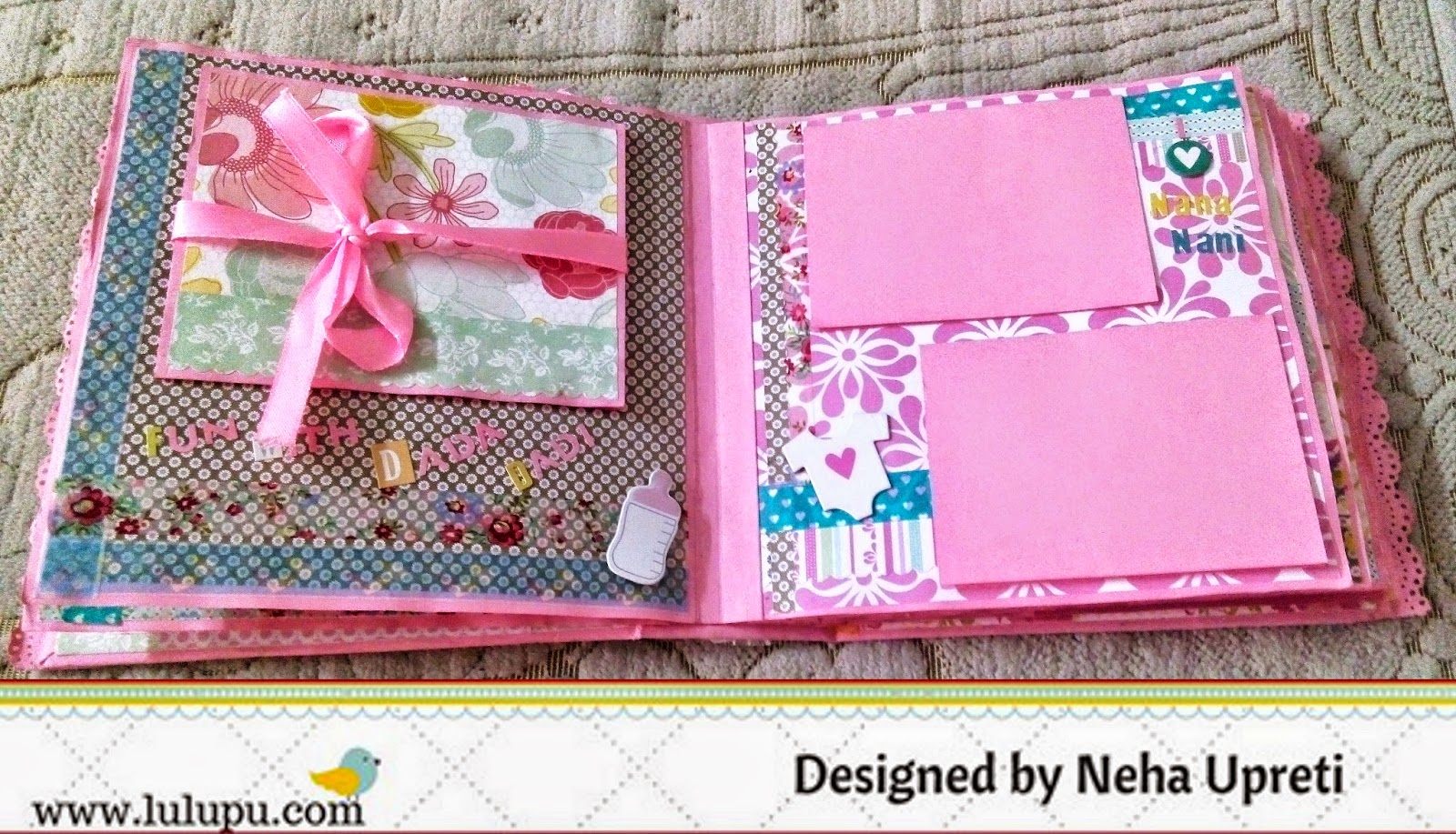 Baby girl scrapbook ideas - Here I Have Used The Baby Girl Me My Big Ideas Kit It Comes In A 12 12 Size And Is Perfect For Making A Baby Girl Scrapbook Album
