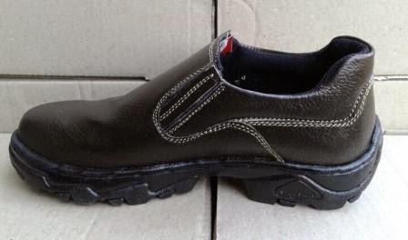 sepatu safety low cut tanpa tali