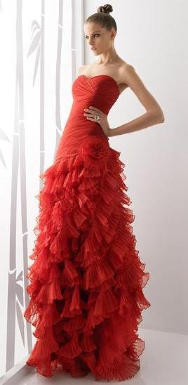 Vestidos de fiesta rojos 2012