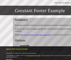 Constant Footer : jQuery plugin for fixed footer