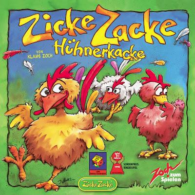 Zicke Zacke Huhnerkacke - The box cover artwork