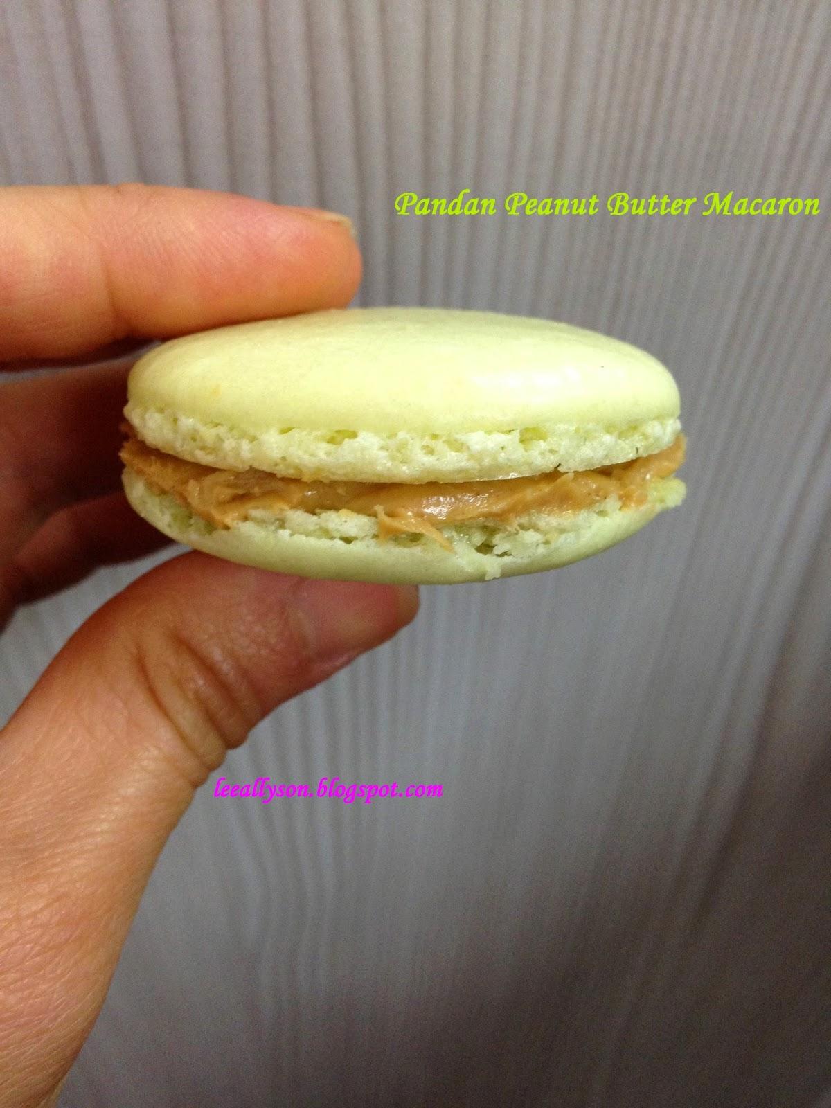 Pandan Peanut Butter Macarons